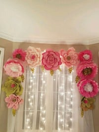 Paper flowers decorations for your next event  Barrie, L4N 8P7