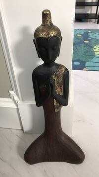 Black and brown ceramic figurine budha decor Richmond