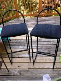 2 bar stools metal fabric seat Alexandria, 22315