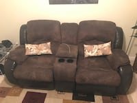 Brown leather and suede recliner sofa Atlanta, 30339