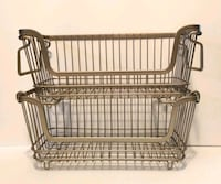 Small Wire Stacking Baskets - Set of 2
