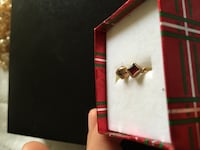 Small antique 14k gold earrings with ruby Toronto, M2R 3N1