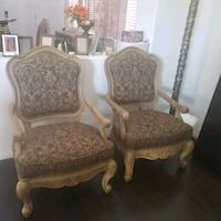 brown wooden frame padded armchairs Henderson, 89011