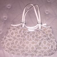Gently used white and brown/tan Coach bag Stephens City, 22655