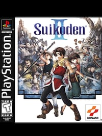 QUALITY PLAYSTATION 1 SUIKODEN II GAME. Edmonton, T5L 0S3
