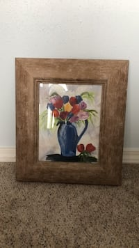 red, purple, and blue petaled flowers painting Meadowview, 24361