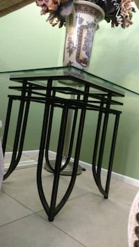 One Glass coffee table, and two end tables Fontana, 92336