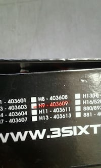 H9 HID (6000K) COVERSION KIT Surrey, V3W 2P2