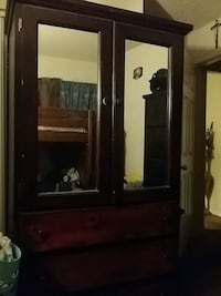 brown wooden cabinet with mirror South Gate, 90280
