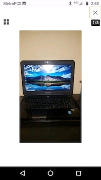 black laptop computer with keyboard Aurora, 80012