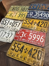 assorted color license plate lot Mille-Isles, J0R