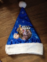 blue and white Star Wars print Christmas hat nwot Albany, 42602
