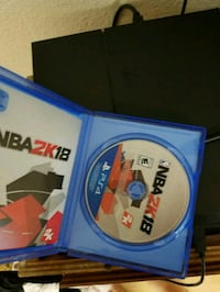 NBA 2K18 PS4 game disc with case Vancouver, 98665
