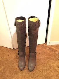 Replay size 7 Khaki brown leather/ fabric knee high boots Toronto, M2H 1E9