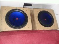 two black and blue subwoofers Pensacola, 32505