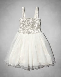 Adorable Abercrombie kids white sparkly flower girl dress Toronto, M5M 1J2