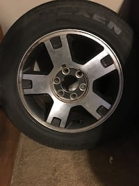 2 used 18-inch wheel and tires
