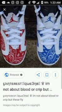 Blood n crip 6s (customs) Youngstown, 44509