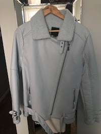 Baby blue aviator jacket new