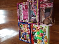 assorted toy boxes