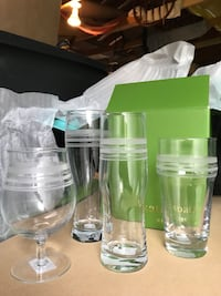 Kate Spade Assorted Beer Glass Set Canandaigua, 14424
