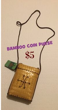 Bamboo Mini Coin Zipper Purse: Brand new 539 km