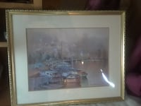 boat lot on dock painting Santa Rosa, 95407