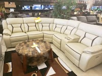 white and brown sectional couch North Fort Myers, 33903