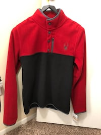 Spyder fleece sweater pullover. New. Original $130. Small