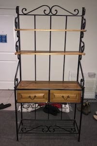 Rustic hand made stained pinewood Cabinet/Shelf