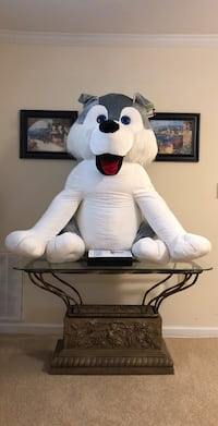 Awesome gray and white dog plush toy