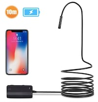 Brand New Seal In Box 1200P Semi-rigid Wireless Endoscope, 2.0 MP HD WiFi Borescope Inspection Camera,16 inch Focal Distance & 1800mAh Battery Snake Camera for Android & IOS Smartphone Tablet - Black 33FT Hayward, 94544