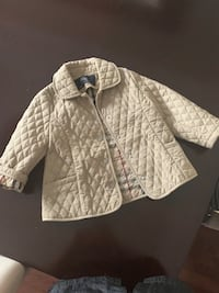 Girls Burberry quilted jacket