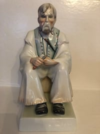 Zsolnay Hungary porcelain old man figurine