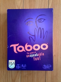Taboo board game set with guide book
