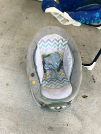 baby's gray and pink bouncer Gibsonton