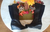 Naturalizer Black Leather Boot Size 10 CHICAGO