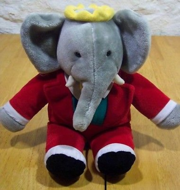 Brukt Disney S Babar The Elephant Plush Stuffed Animal 14 Tall