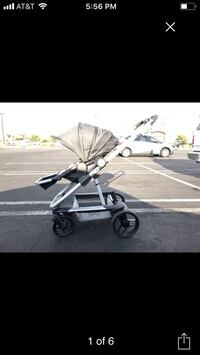 GB evoq 4 in 1 stroller and skateboard