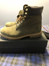 "6"" Olive Green Timberland boots, size 10 Ajax, L1S 6S5"