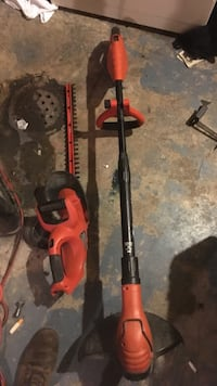 red and black hedge trimmer and electric string trimmer Calgary, T2A 5E7