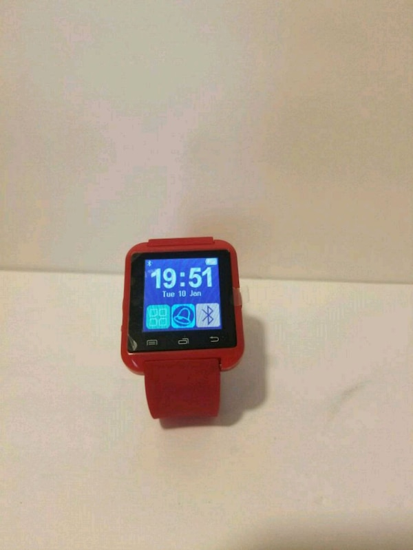Red Bluetooth Smartwatch for Android - NEW
