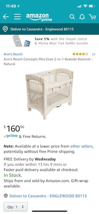 white and gray travel cot screenshot Englewood, 80113