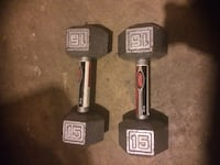 two black fixed weight dumbbells Montréal, H4N 1Y8