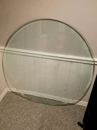 Round tempered glass table top Fairfax
