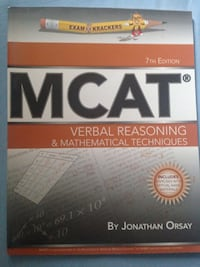 MCAT by Jonathan Orsay book