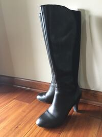 Naturalizer black leather boots, 7 1/2M Maple Grove