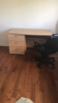 *Desk and chair