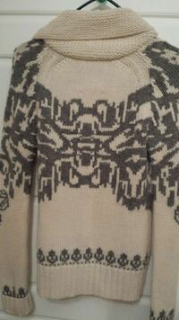 Beige and gray wool TNA Cowichan sweater.  Excellent condition  New Westminster, V3L 3T5