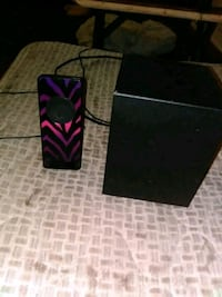 Its a speaker with a bass with it  Gray